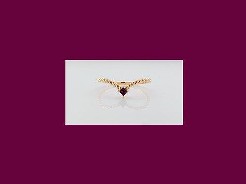 Rose Gold & Rhodolite Garnet