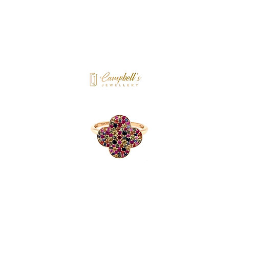 Multi coloured Sapphire Ring