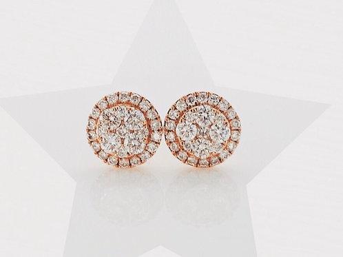 Rose Gold Diamond Studs