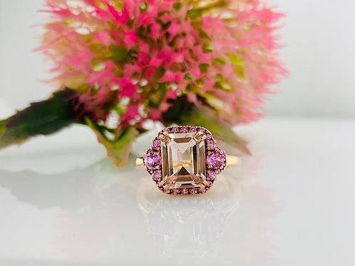 Pink Sapphire & Morganite Ring