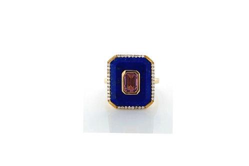Lapis  & Tourmaline Ring