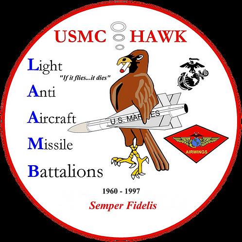 USMC HAWK ASSOCIATION Vinyl Decal