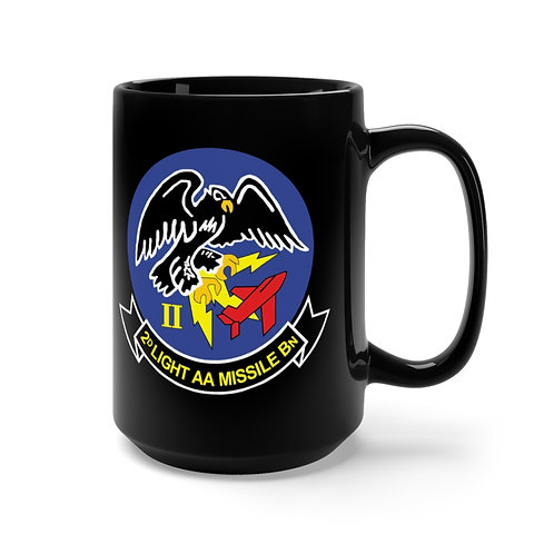 2nd LAAM Bn (1960 design) with MCAS Yuma graphic on black Coffee Mug