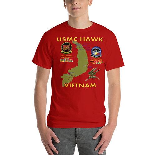 USMC HAWK VIETNAM Tee Shirt Front Side