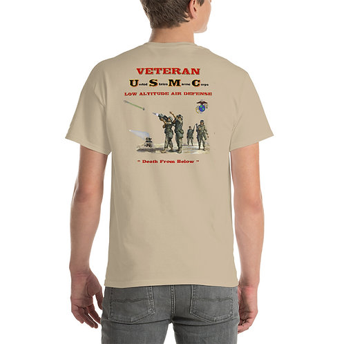 USMC LAAD VETERAN Tee Shirt Backside