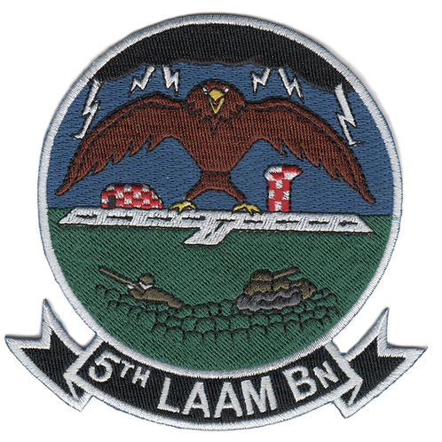 5th LAAM Bn Jacket Patch