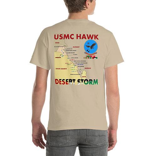 USMC HAWK DESERT STORM 2nd LAAM Bn Tee Shirt Backside