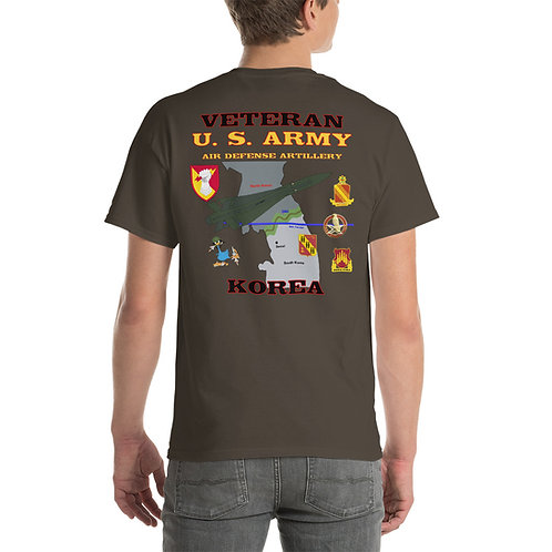 U.S. ARMY ADA HAWK KOREA VETERAN Tee Shirt Backside