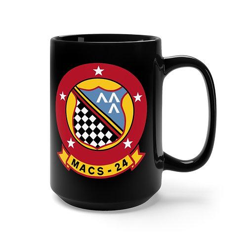 MACS-24/EGA Black Coffee Mug
