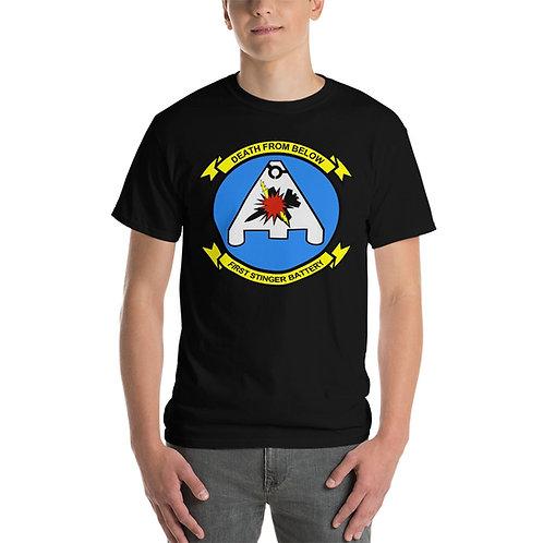 USMC 1st STINGER BATTERY Tee Shirt Front