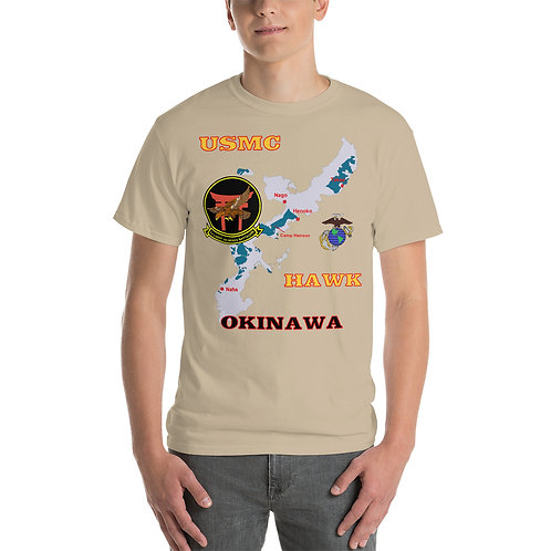 USMC HAWK OKINAWA Tee Shirt Front