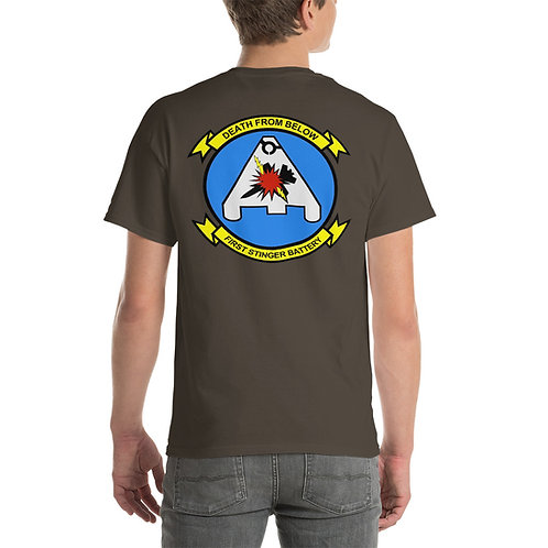 USMC 1st STINGER BATTERY Tee Shirt Backside