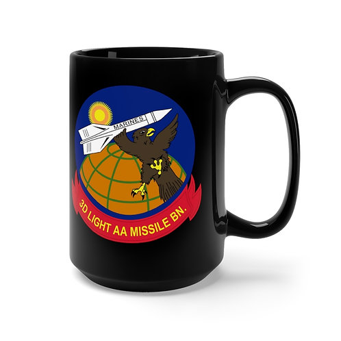 3rd LAAM Bn (1960 design) with MCAS Cherry Point graphic on black Coffee Mug