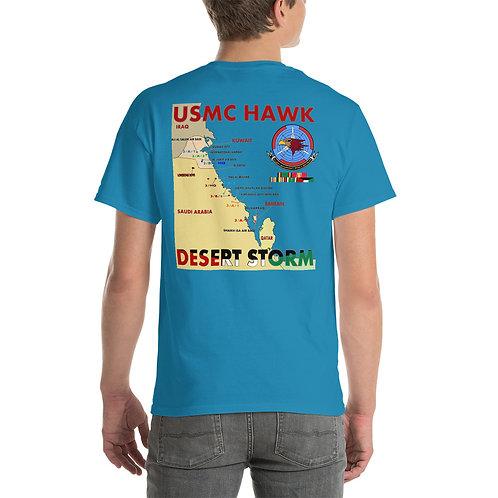 USMC HAWK DESERT STORM 3rd LAAM Bn Tee Shirt Backside