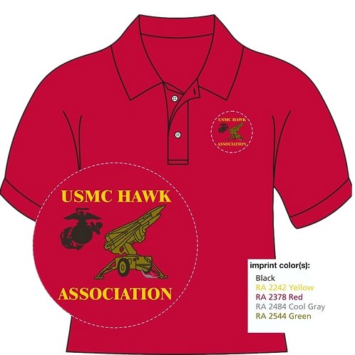 USMC HAWK ASSOCIATION POLO SHIRT