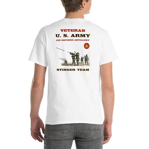 U. S. ARMY STINGER VETERAN Tee Shirt Backside