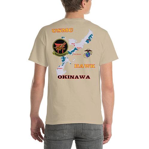 USMC HAWK OKINAWA Tee Shirt Backside