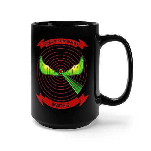 MACS-2 / EGA Black Coffee Mug
