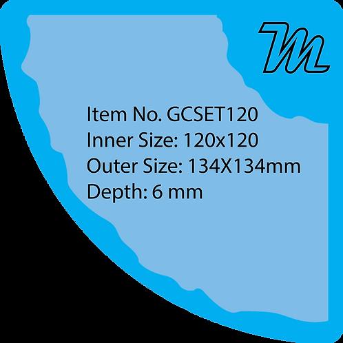 GCSET120 قالب سيليكون مروحة قياس 12*12 سم