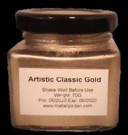 طلاء ذهبي أصفر 70 غرام لأعمال الريزن والحرف العامة