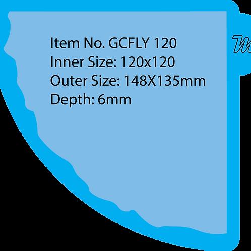 GCFLY/120 قالب سيليكون مروحة قياس 12*12 سم