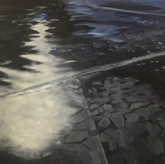 Ice and Swirling Water #14
