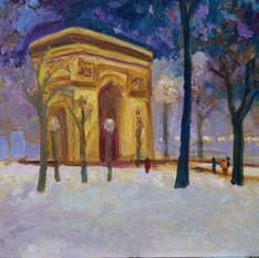 Arc de Triomphe in Snow