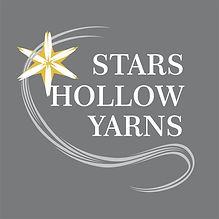 Stars Hollow Yarns square logo on grey 2