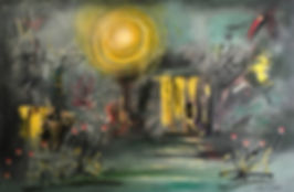 Deckert _1_ _Here-Nor-There_ , oil on bo
