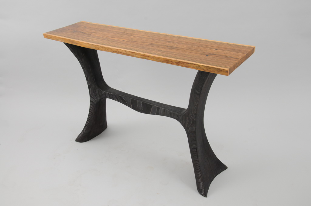 Bocote and Ebonized Birch Hall Table - 0004