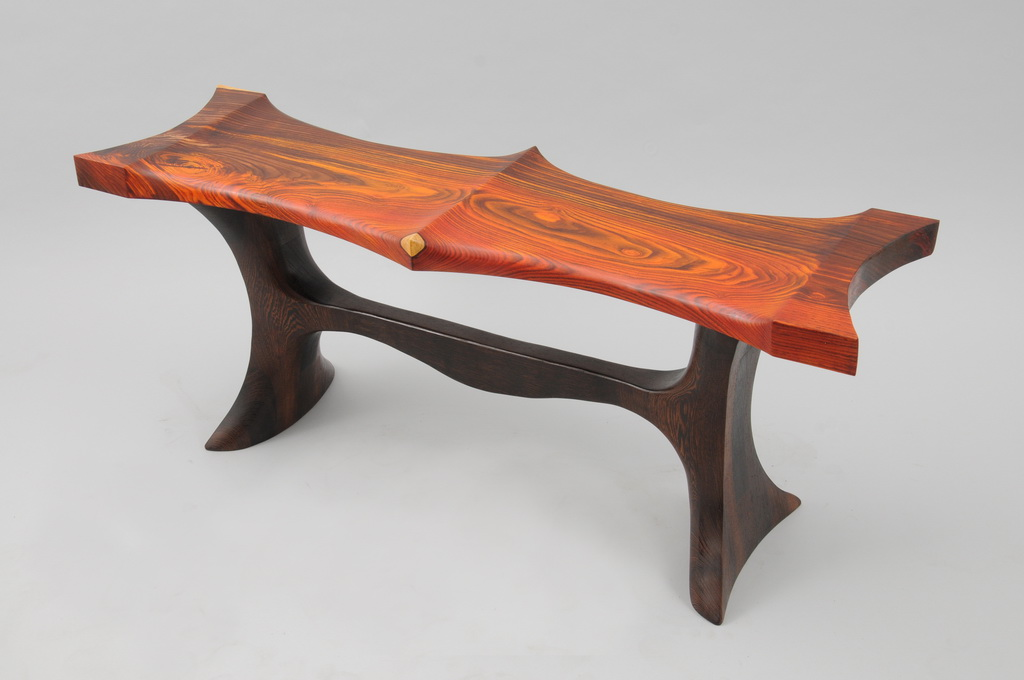Cocobolo and Wenge Bench - 0001a