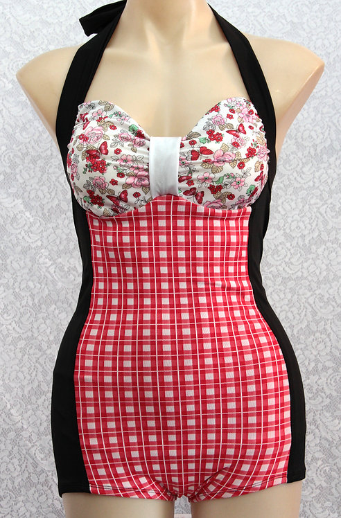 Patti Play-suit {red gingham}