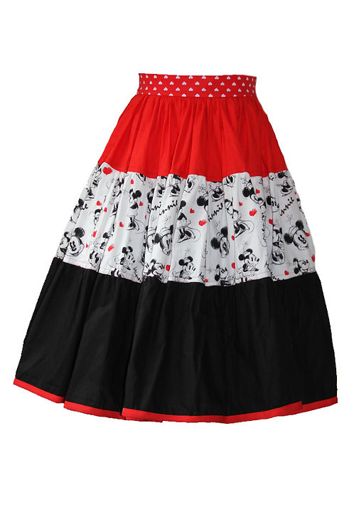 Frida Skirt { Minnie Mouse}