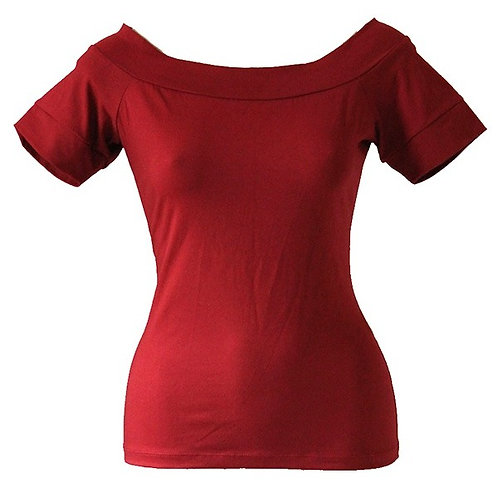 Jean Top in Rust red 0172