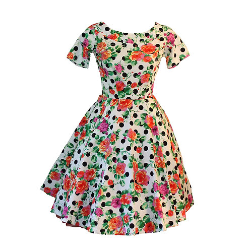 Ruby Dress spring Polka dots
