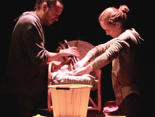Stills from our Ovalhouse work-in-progress showing of Mrs Horton's Finger