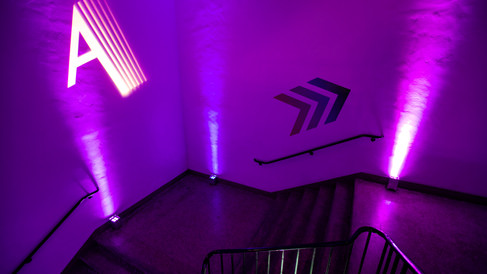 Transforming a Bland Stairwell