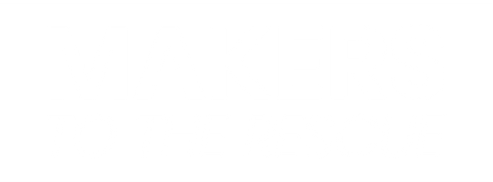 Makers to the rescue logo_white reversed
