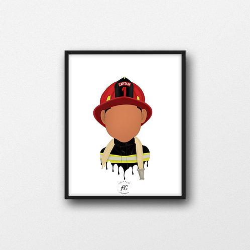 Firefighter Art Printable
