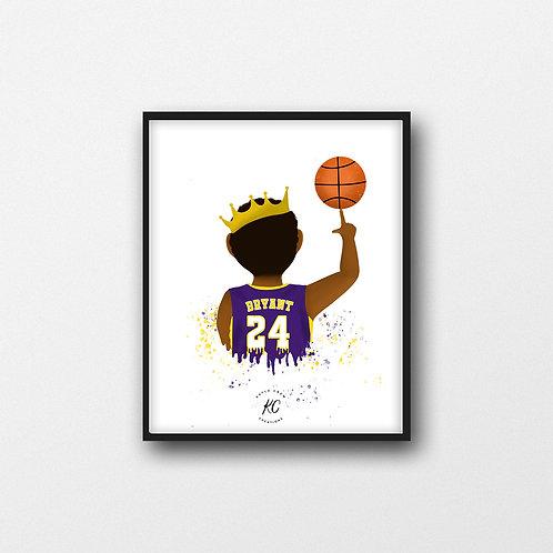 Kobe Bryant #24 Purple Art Printable