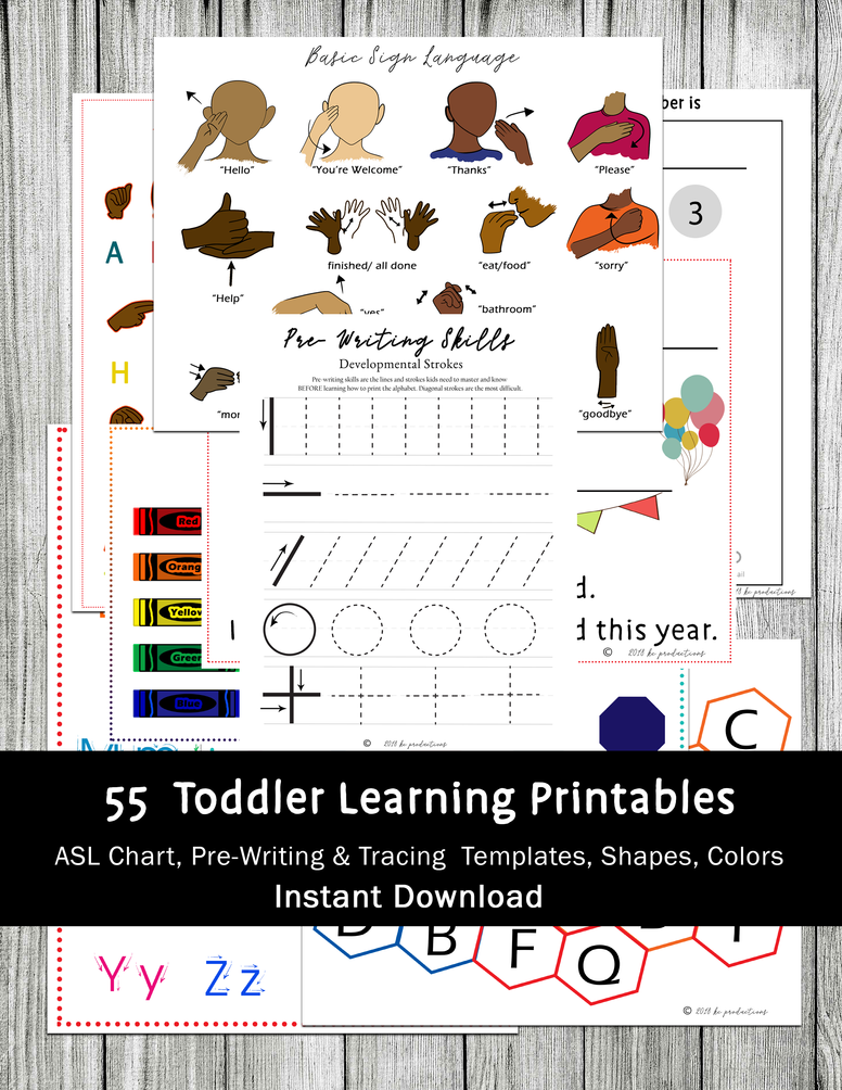 55+ Toddler Learning Printables