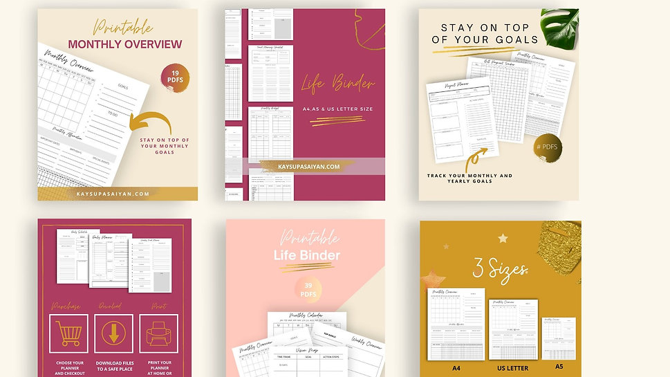 Etsy listing templates