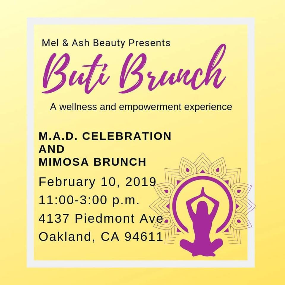 Mel & Ash Beauty - Buti Brunch Flyer
