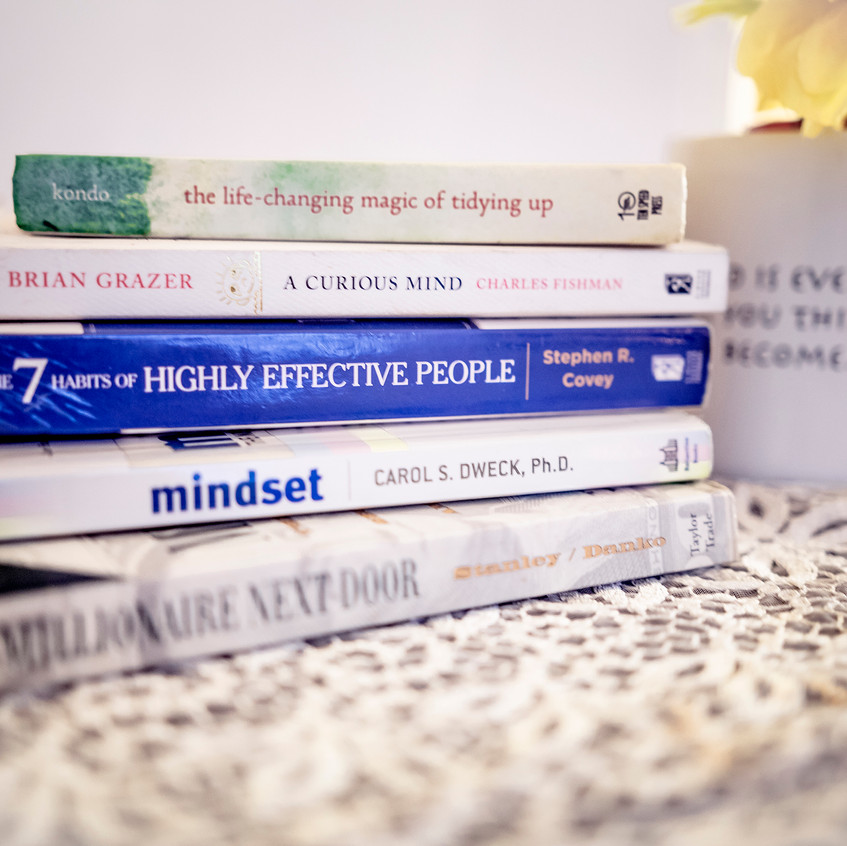 The Millionaire Next Door, Mindset, 7 Habits of Highly Effective People, The Curious Mind,