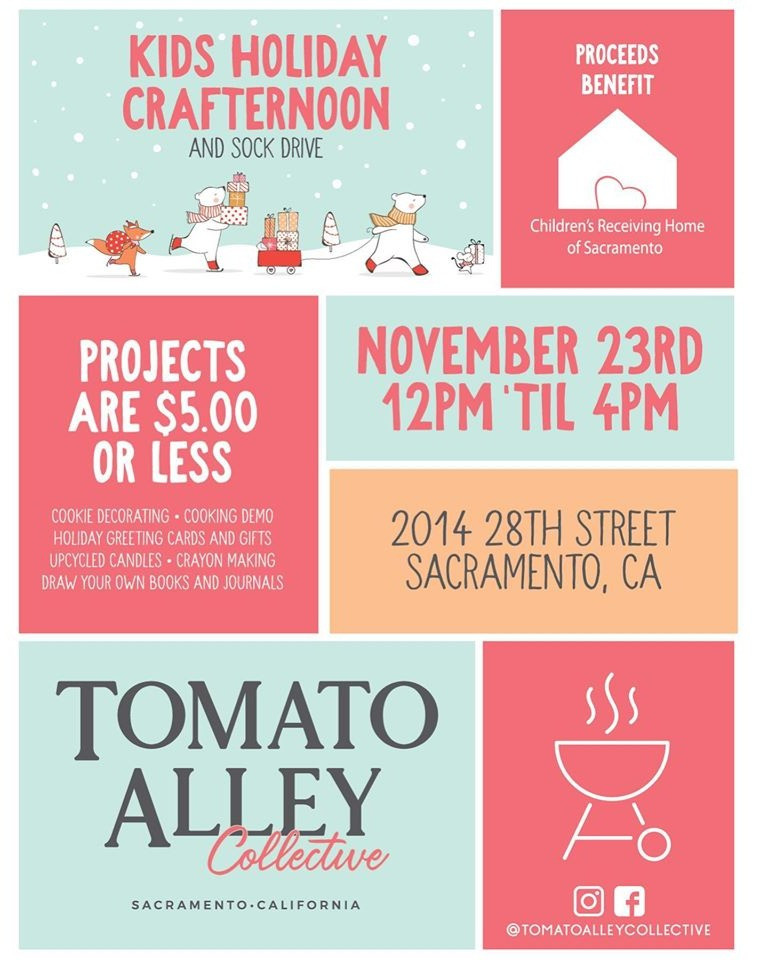 KIDS HOLIDAY CRAFTERNOON & SOCK DRIVE