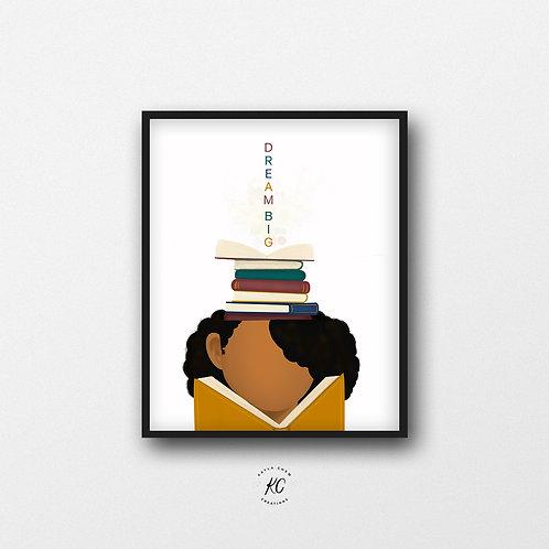 Girl Readers Dream Big Art Printable
