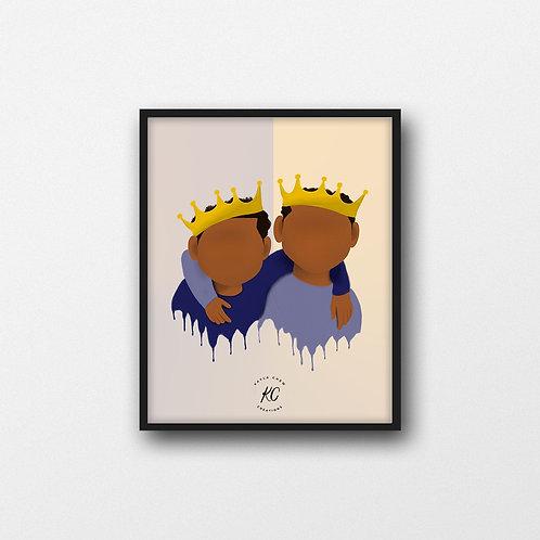 Two Young Kings(Brothers) Art Printable