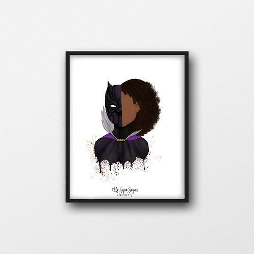 Girl Panther Printable Art