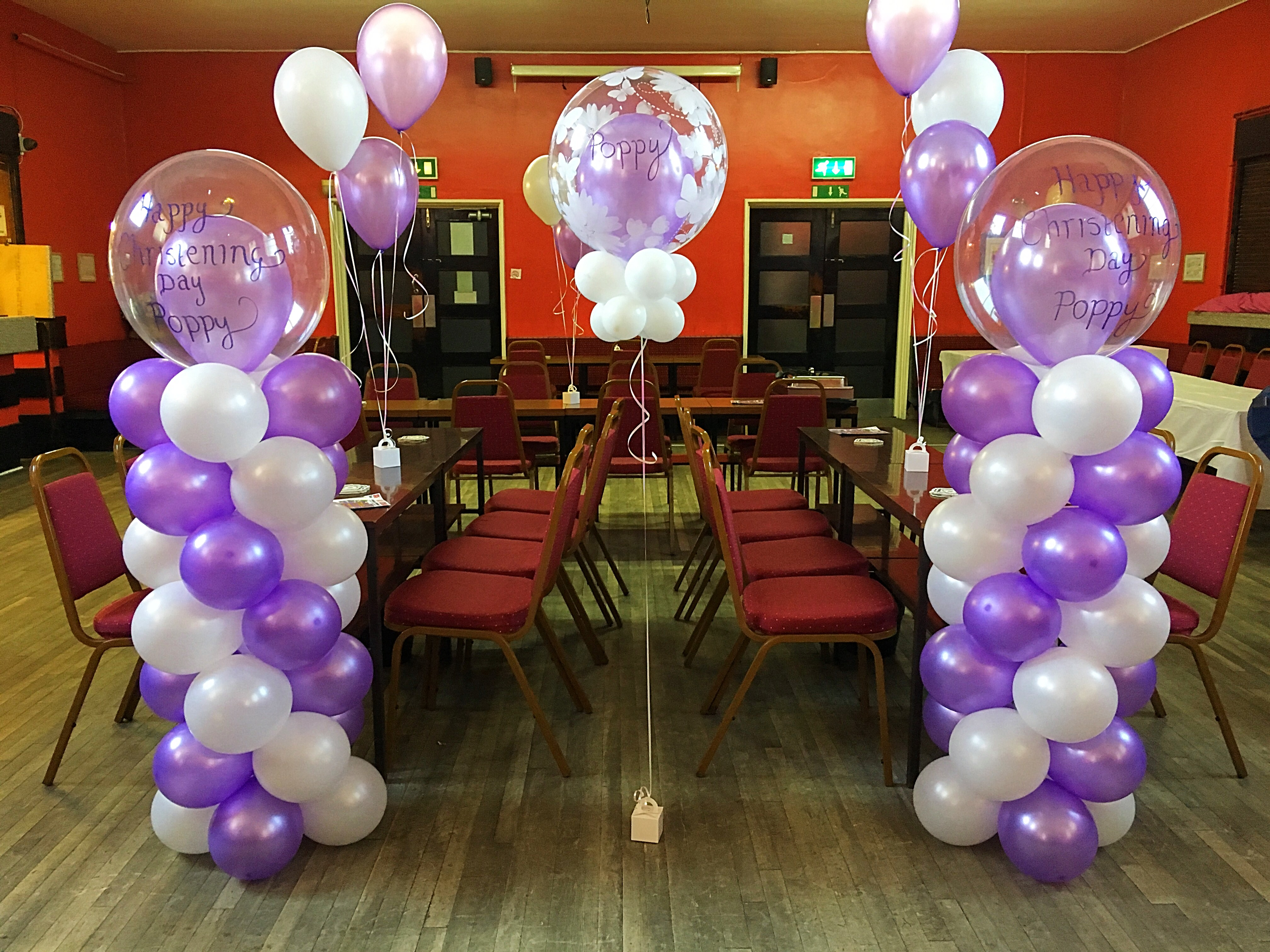 Christening balloon columns