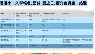 香港小一入學報名資訊一站通
